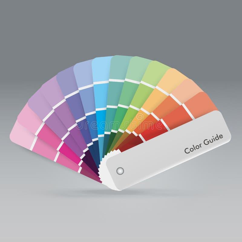 Illustratie van de gids van het kleurenpalet voor drukhandleiding voor ontwerper royalty-vrije stock foto