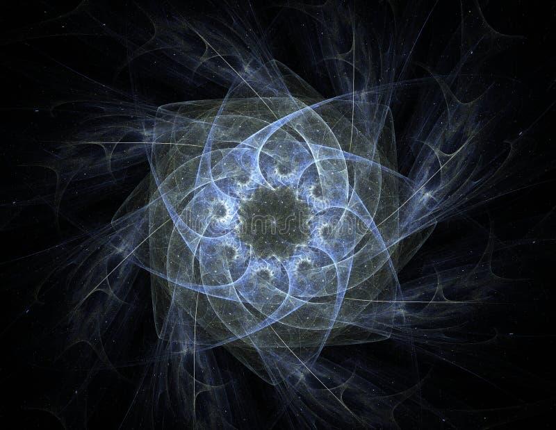 Illustratie van de Gouden schitterende cirkel van het sterstof stock illustratie