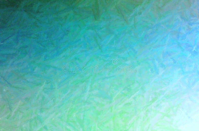 Illustratie van de groene Lange achtergrond geproduceerde van de de Pastelkleurverf van borstelslagen, digitaal royalty-vrije illustratie