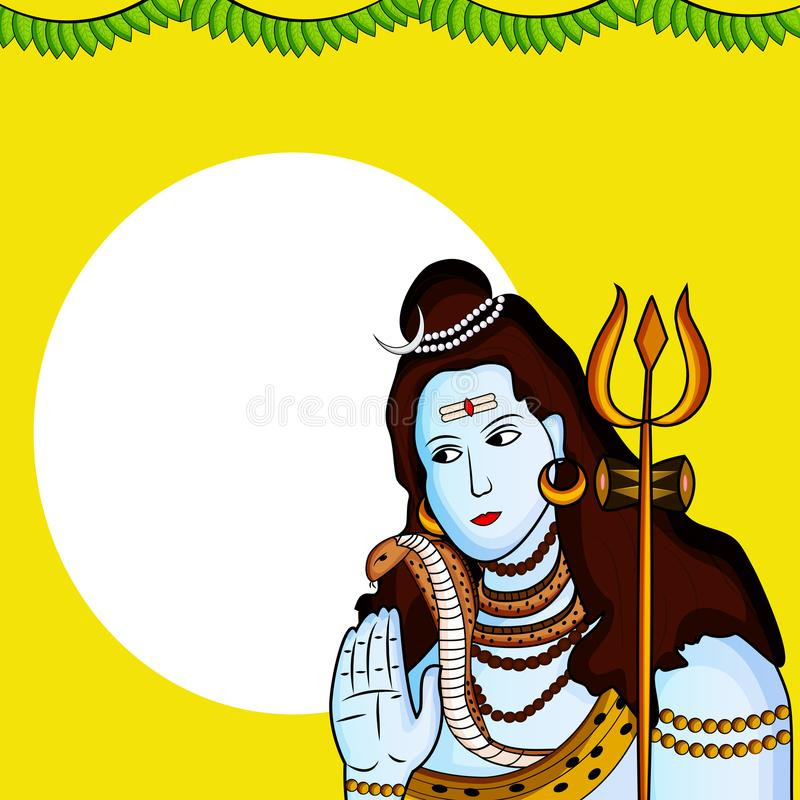 Illustratie van de Hindoese achtergrond van festivalshivratri stock illustratie