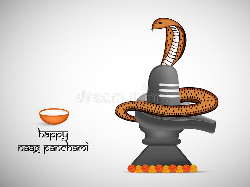 Illustratie van de Hindoese achtergrond van festivalnaag Panchami vector illustratie