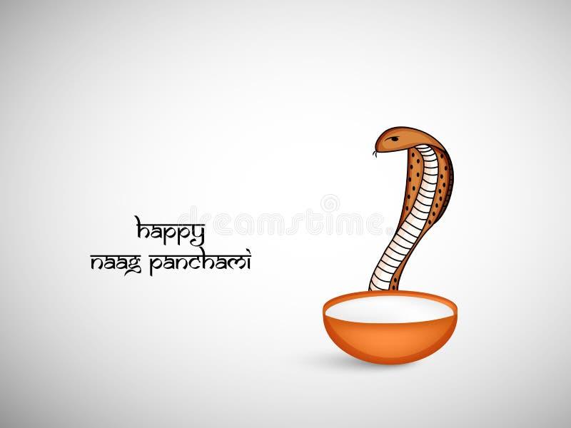 Illustratie van de Hindoese achtergrond van festivalnaag Panchami stock illustratie