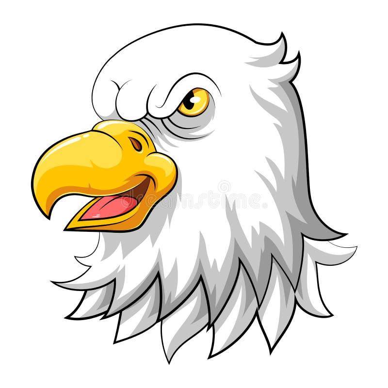 Illustratie van de hoofdmascotte van Eagle stock illustratie