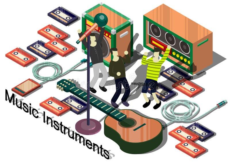 Illustratie van de instrumentenconcept van de informatie grafisch muziek vector illustratie