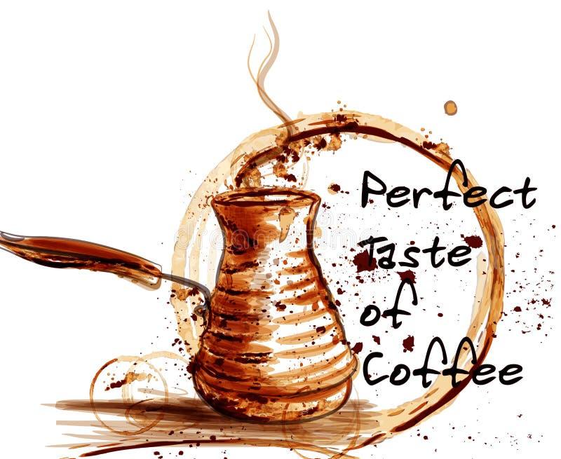 Illustratie van de koffie de vectoraffiche voor koffieetiketten royalty-vrije illustratie