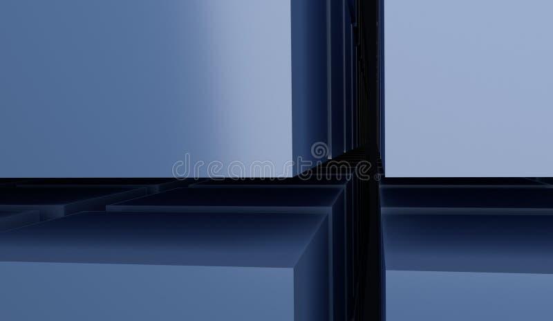 Illustratie van de kubussen 3d matrijs stock illustratie