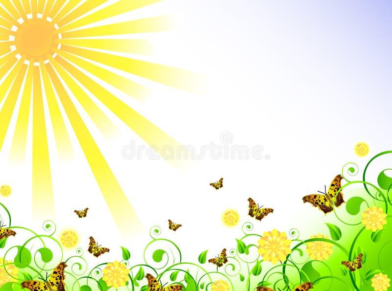 Illustratie van de lentethema vector illustratie