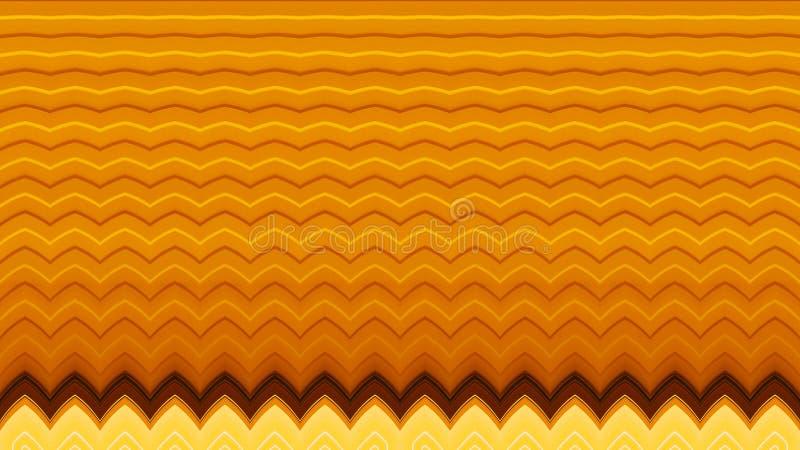 Illustratie van de Oranje en Gele Abstracte Achtergrond van het Zigzagpatroon stock illustratie