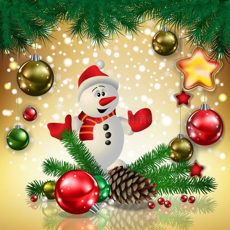 Illustratie van de scène van Kerstmis vector illustratie