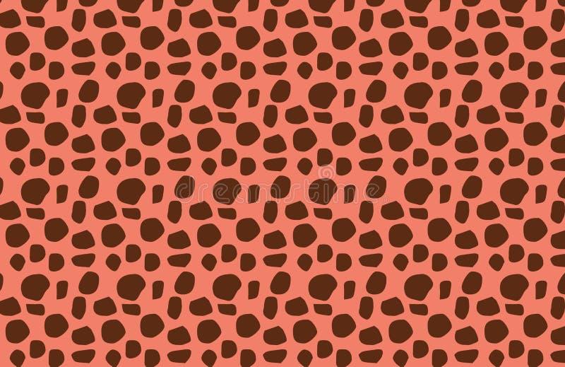 illustratie van de textuur van het Jachtluipaardbont Het concept van manierkleren stock illustratie