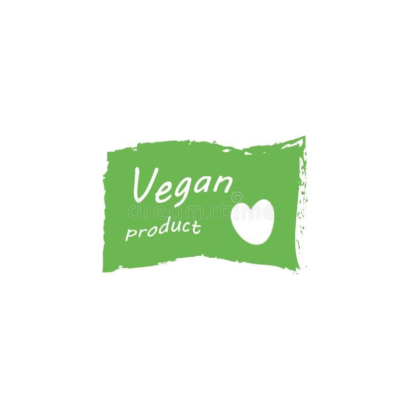 Illustratie van de veganist de Vector Van letters voorziende Zegel royalty-vrije illustratie