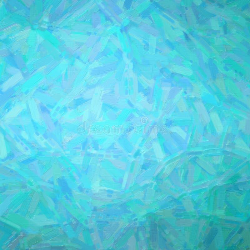 Illustratie van de Vierkante achtergrond van het aqua Abstracte Olieverfschilderij royalty-vrije stock fotografie