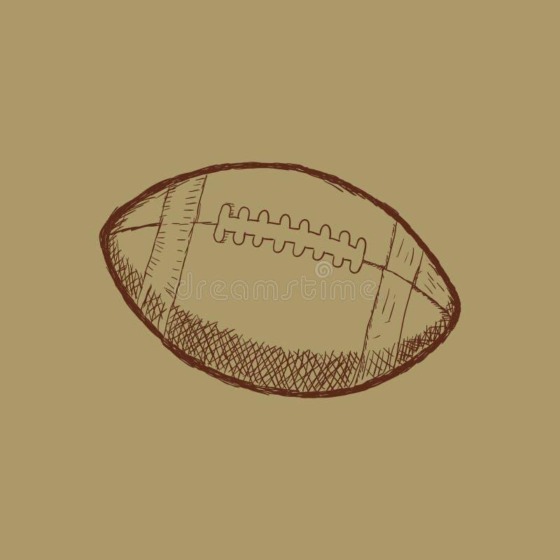 Illustratie van de voetbalsporten van de krabbelstijl de Amerikaanse in formaat - Vector stock illustratie
