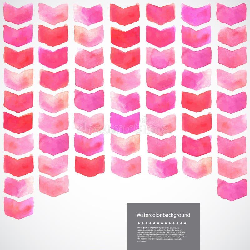 Illustratie van de waterverf de vector geometrische chevron vector illustratie