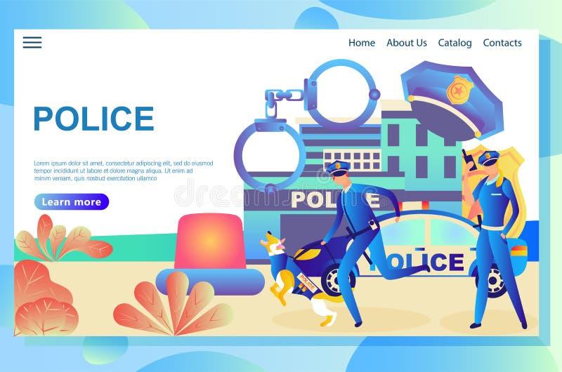Illustratie van de webpagina, politieafdeling royalty-vrije illustratie