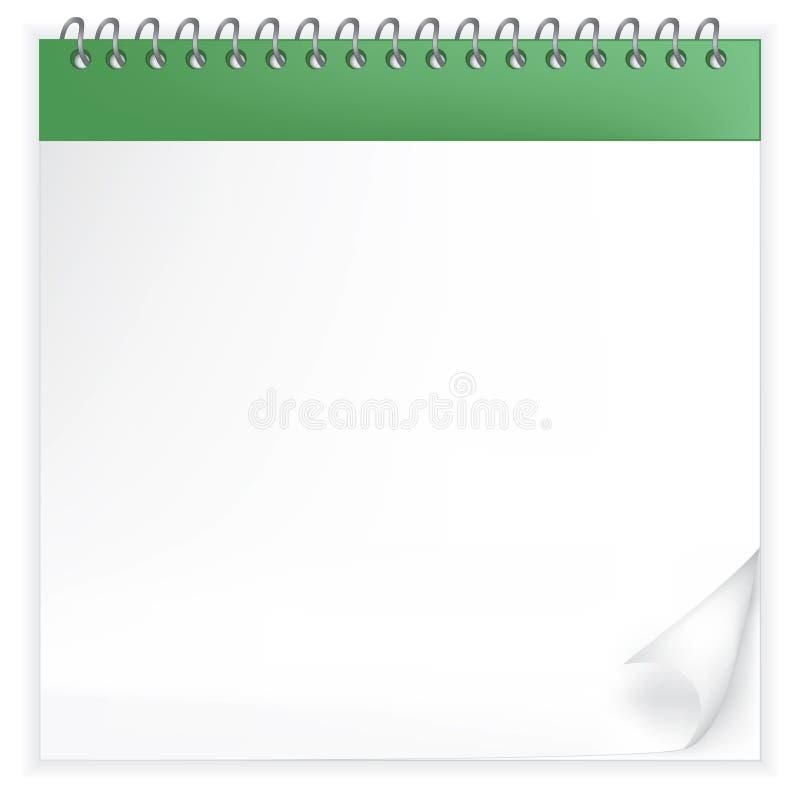Illustratie van de werpen-overschotkalender royalty-vrije illustratie