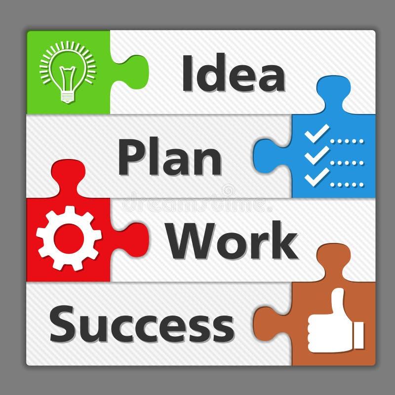 Diagram van succes stock illustratie