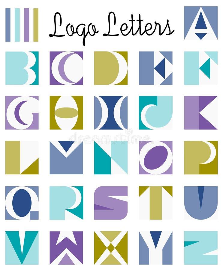 Het Alfabet van de Brieven van het embleem stock illustratie