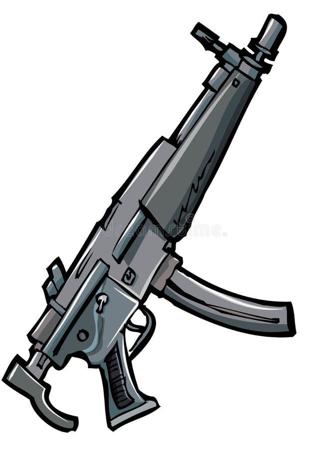 Illustratie van een automatisch geweer royalty-vrije illustratie