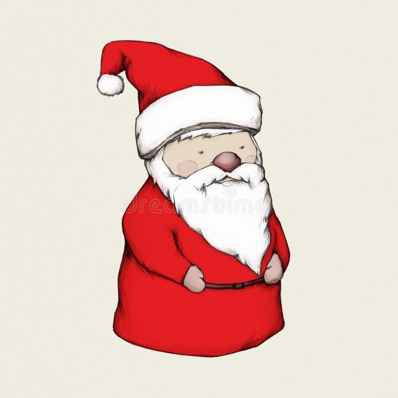 Illustratie van een cijfer van de Kerstman vector illustratie