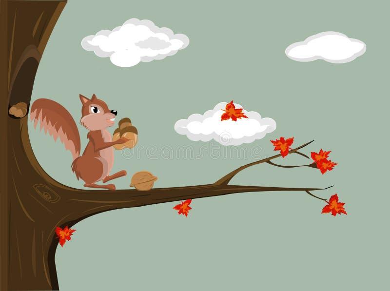 illustratie van een eekhoorn vector illustratie