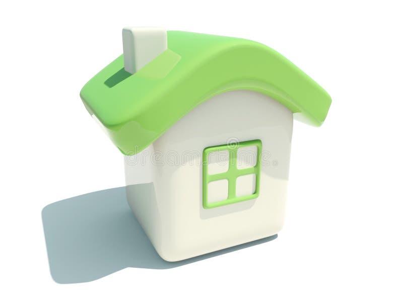 Illustratie van een geïsoleerd huis stock illustratie