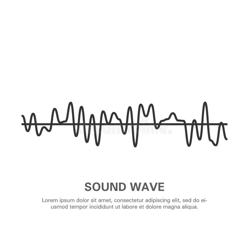 Illustratie van een geïsoleerde geluidsgolf op een witte achtergrond 10 stock illustratie