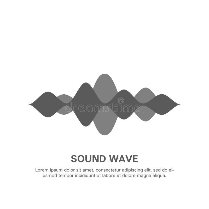 Illustratie van een geïsoleerde geluidsgolf op een witte achtergrond 15 stock illustratie