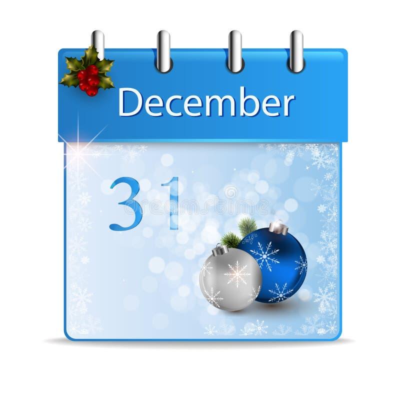Illustratie van een kalender stock illustratie