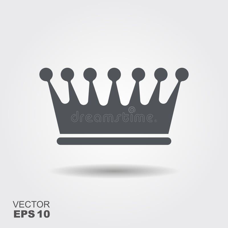 Illustratie van een kroon in vlakke ontwerpstijl vector illustratie