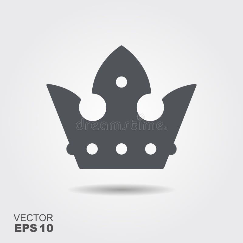 Illustratie van een kroon in vlakke ontwerpstijl royalty-vrije illustratie