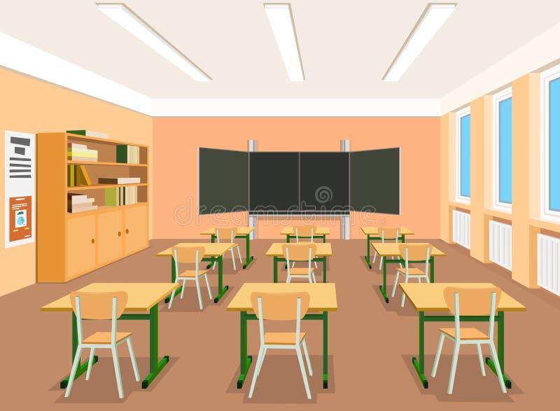 Illustratie van een leeg klaslokaal royalty-vrije illustratie