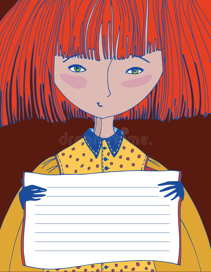 Illustratie van een meisje vector illustratie