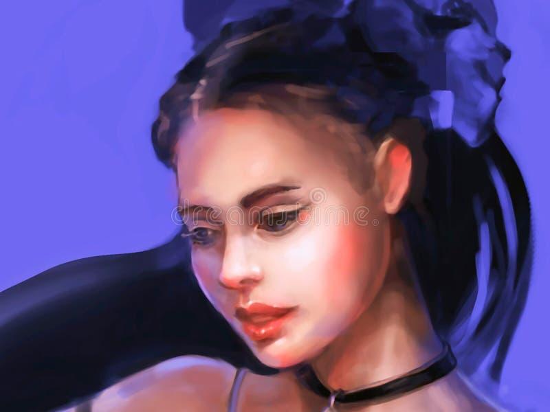 Illustratie van een meisje van hogere kringen stock foto