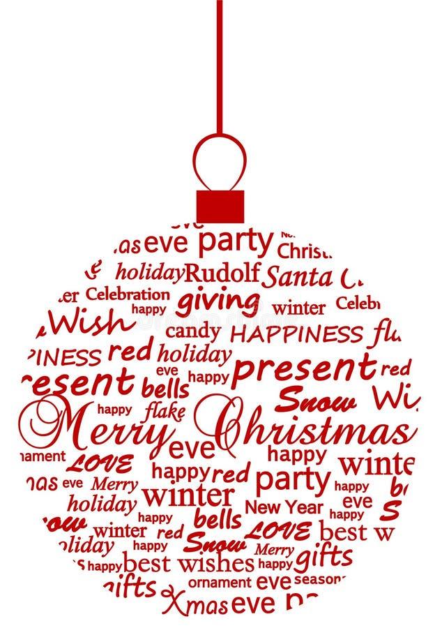 Illustratie van een metaphoric bal van Kerstmis royalty-vrije illustratie