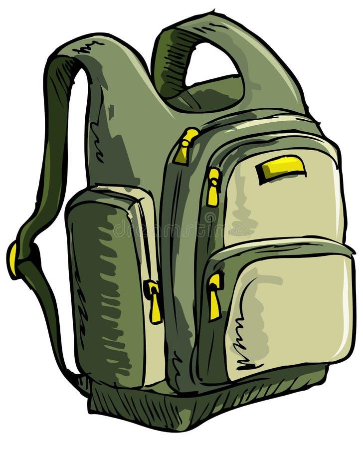 Illustratie van een rugzak stock illustratie