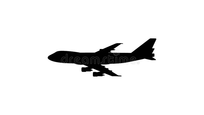 Illustratie van een vliegend vliegtuig stock illustratie