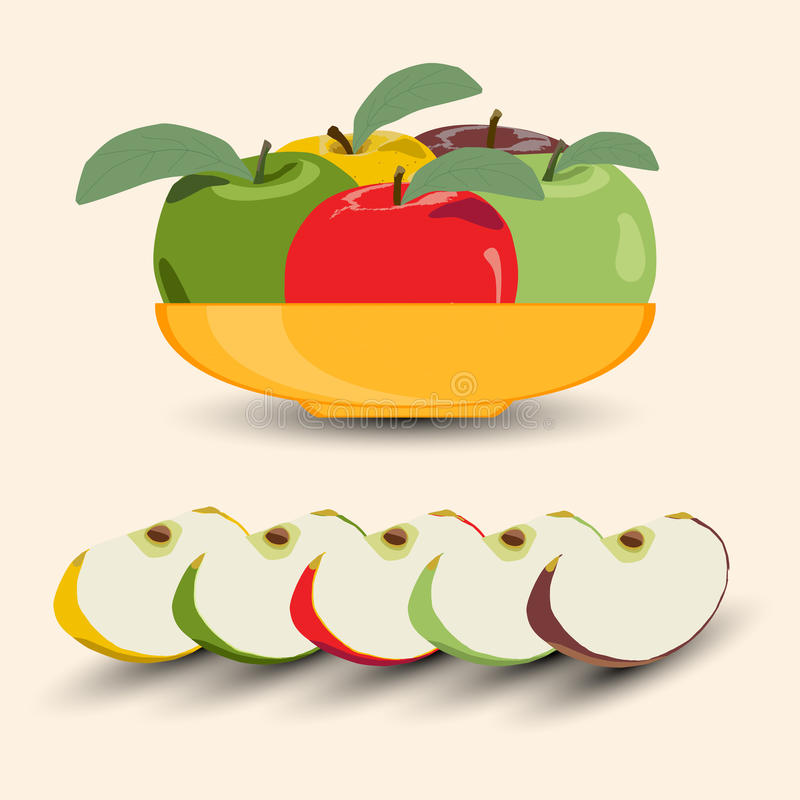 Illustratie van embleem voor Apple vector illustratie