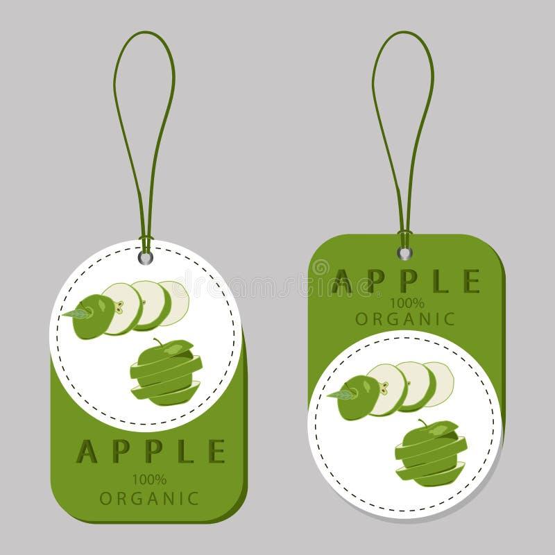 Illustratie van embleem voor Apple stock illustratie