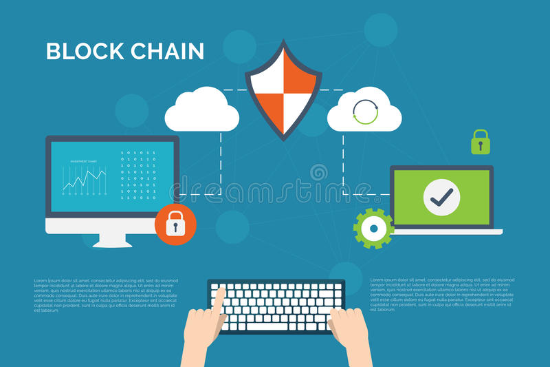 Illustratie van encryptie en decryptietechnologieachtergrond royalty-vrije stock afbeeldingen