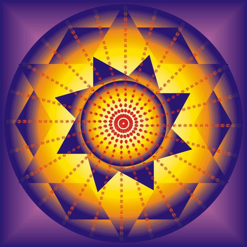 Illustratie van esoterische mandala royalty-vrije illustratie