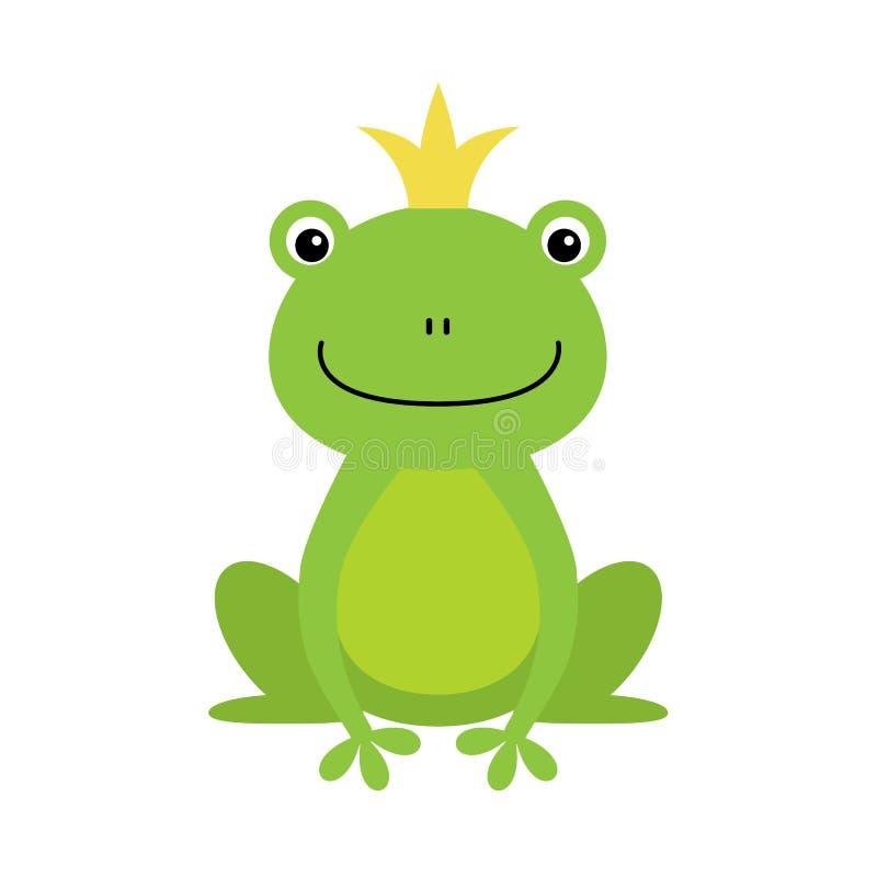 Illustratie van geïsoleerde kikkerprins op witte achtergrond vector illustratie