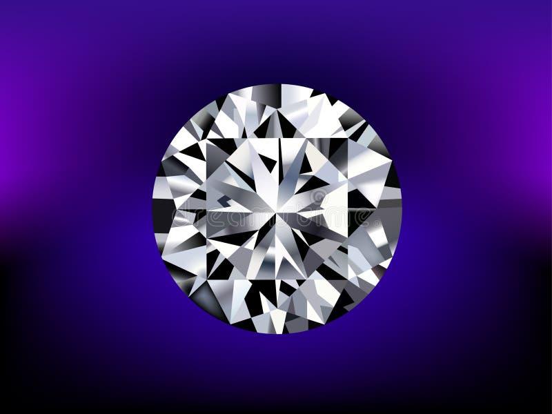 Illustratie van gedetailleerde diamant vector illustratie