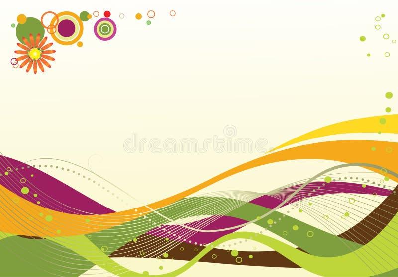 Illustratie van gekleurde golven stock afbeeldingen