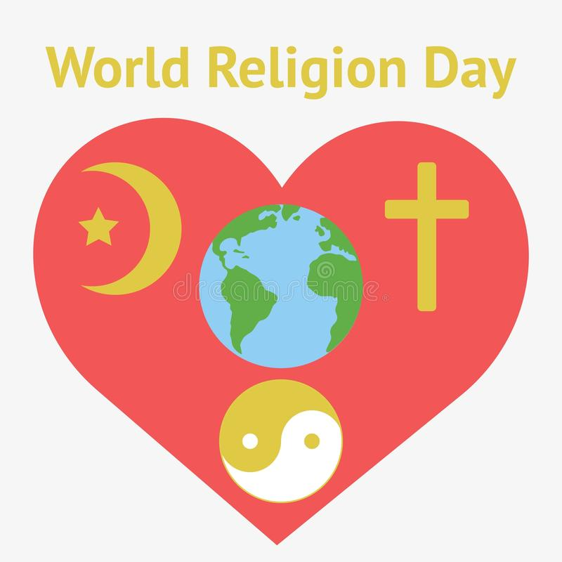 Illustratie van godsdienstige vrijheidsdag royalty-vrije illustratie