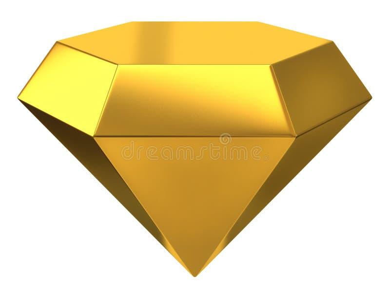 Illustratie van gouden diamant vector illustratie