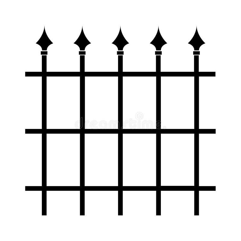 Illustratie van griezelige staalgrills vector illustratie