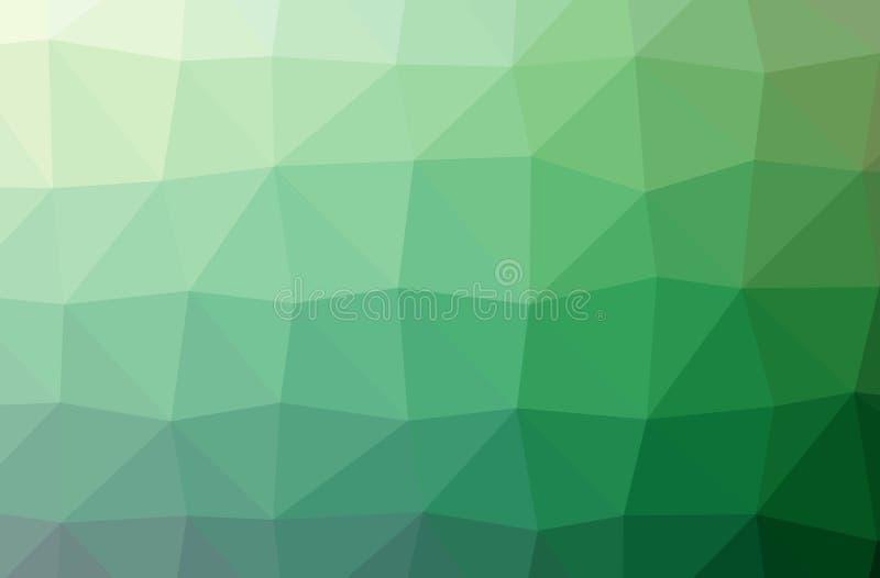 Illustratie van groene abstracte lage poly aardige veelkleurige achtergrond stock illustratie