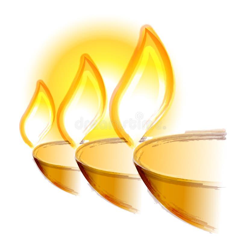 Illustratie van Groot Diwali-festival royalty-vrije stock afbeelding