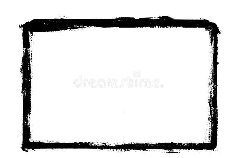 illustratie van Grunge-grens feame op witte achtergrond vector illustratie